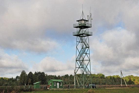 Andriaus Vaitkevičiaus/15min.lt nuotr./VSAT bokštas pasienyje su Baltarusija