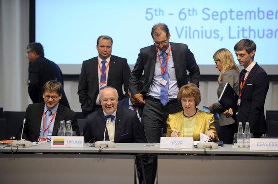 Alfredo Pliadžio nuotr./Rudenį Vilniuje vykusiame ES gynybos ministrų susitikime ES gynybos politikos perspektyvos buvo svarbiausias diskusijų objektas