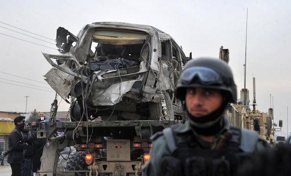 Sprogimas Kabule pražudė NATO karius