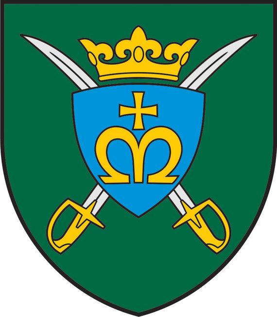 Lietuvos kariuomenės nuotr./Karaliaus Mindaugo husarų bataliono tarnybos ženklas