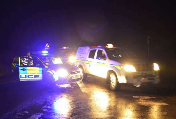 Policija saugo privažiavimą prie nelaimės vietos
