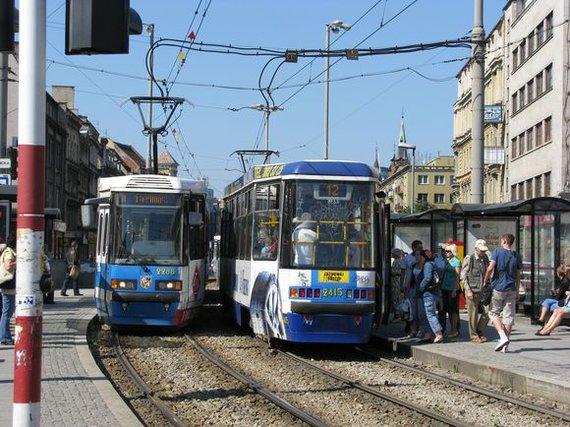 Aurimo Kuckailio/15min nuotr./Vroclave populiari tranpsorto priemonė – tramvajai
