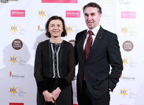 Irmanto Gelūno / 15min nuotr./Petras Auštrevičius su žmona Gintare