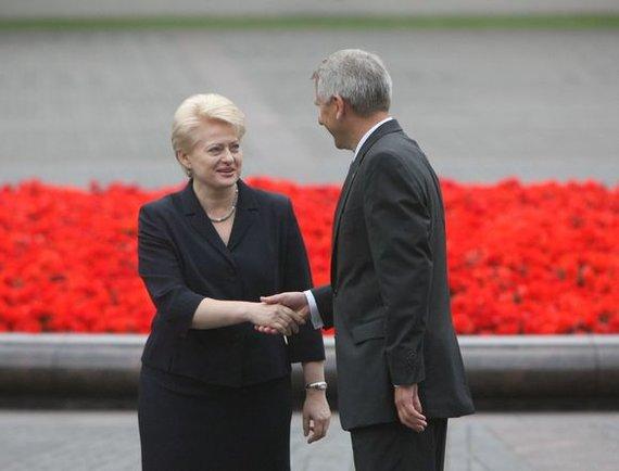 Irmanto Gelūno / 15min nuotr./D.Grybauskaitė ir V.Ušackas