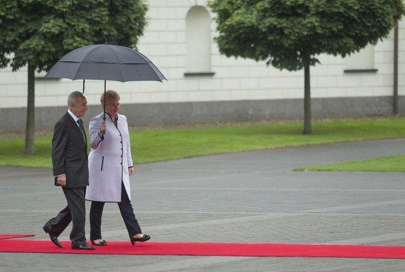Irmanto Gelūno / 15min nuotr./Izraelio prezidentas Shimonas Peresas ir Dalia Grybauskaitė