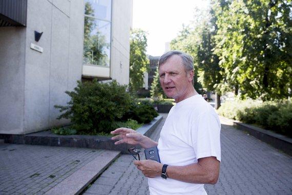Irmanto Gelūno / 15min nuotr./Simfoninio orkestro direktorius Stasys Pancekauskas