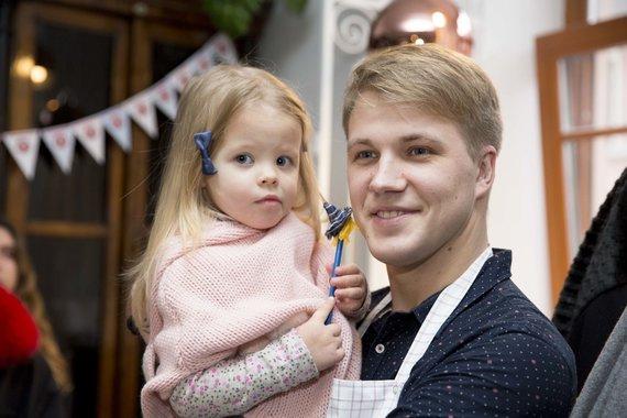 Irmanto Gelūno / 15min nuotr./Paulius Bagdanavičius su dukra