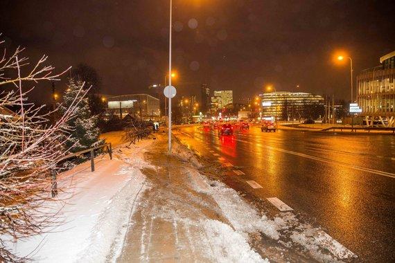 Irmanto Gelūno / 15min nuotr./Autobuso avarija Šeškinės kalno papėdėje Vilniuje