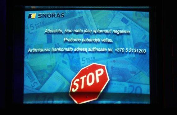 Irmanto Gelūno / 15min nuotr./Bankomato ekranas