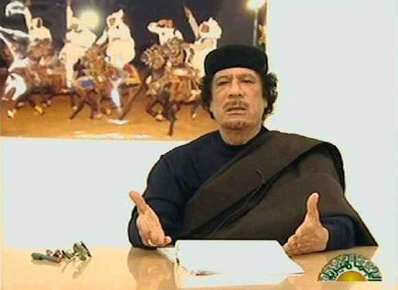 "AFP/""Scanpix"" nuotr./Muamaras Kadhafi kalba per televiziją"
