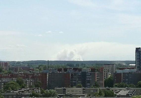 Gaisras matomas iš Klaipėdos