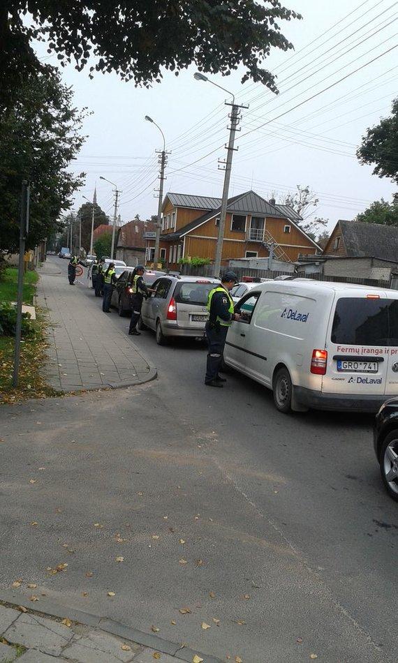 Panevėžio apskrities VPK nuotr./Reidas Panevėžyje