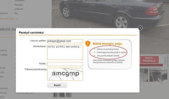 Autogidas.lt/15min.lt iliustracija/Portalo administracijos įspėjimas apie įtartinus skelbimus