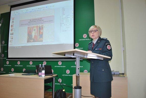 Alytaus apskrities policijos nuotr./Pasitarimo akimirka