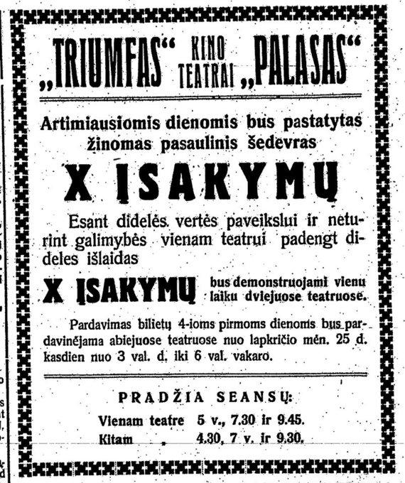 Kinas tarpukario Lietuvoje