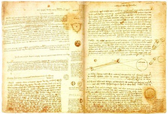 Wikipedia nuotr./Leonardo da Vinci raštas