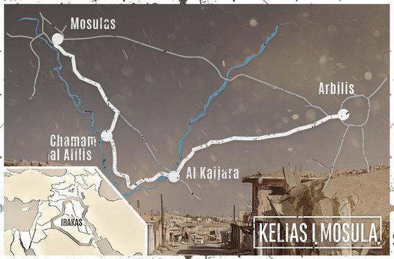 15min iliustr./Kelias į Mosulą