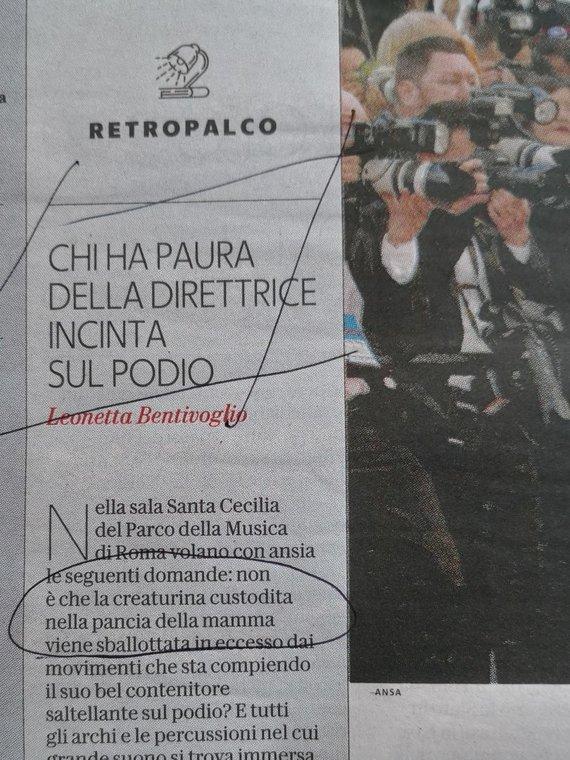 Komentaras Italijos žiniasklaidoje