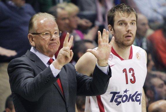 """AFP/""""Scanpix"""" nuotr./Martynas Gecevičius pelnė pirmuosius taškus ketvirtfinalio serijoje."""