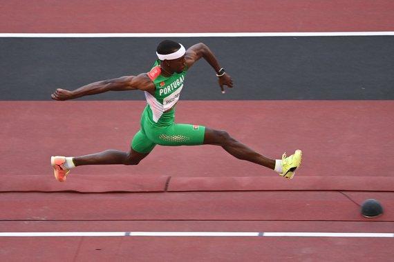 """AFP/""""Scanpix"""" nuotr./Pedro Pichardo laimėjo olimpinę trišuolio rungtį."""