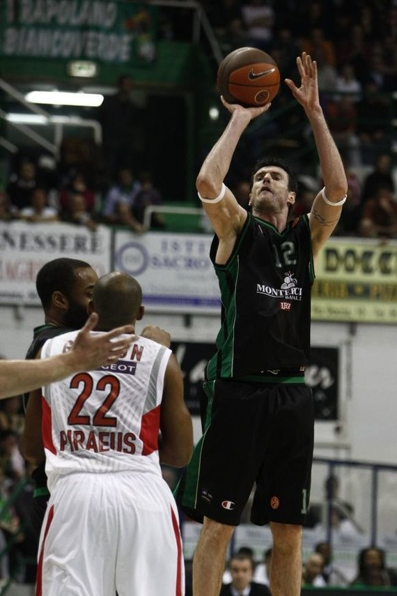 """""""Scanpix"""" nuotr./Kšyštofas Lavrinovičius viename iš serijos mačų pelnė 19 taškų."""