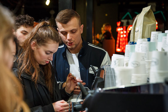 """L.Bielinio nuotr./""""Vilnius Coffee Festival"""" akimirka"""