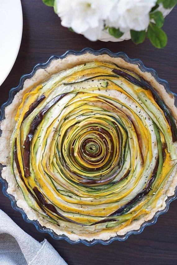 Tinklaraščio archyvo nuotr. /Daržovių tarta su kreminiu įdaru