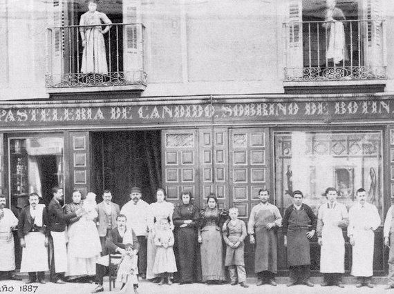 """Botin.es nuotr./""""Sobrino de Botin"""" savininkai ir darbuotojai 1887 m."""