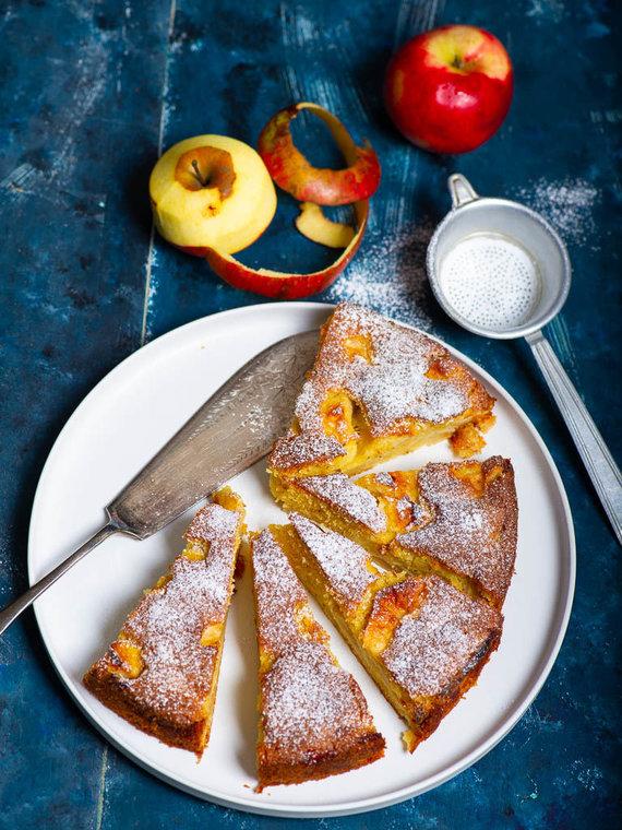 Nidos Degutienės nuotr. /Prancūziškas obuolių pyragas