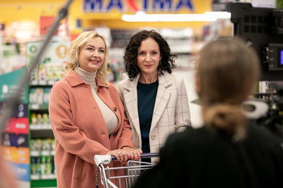 Maxima nuotr./Projekto #palyginome herojė Raminta ir Livija Gradauskienė