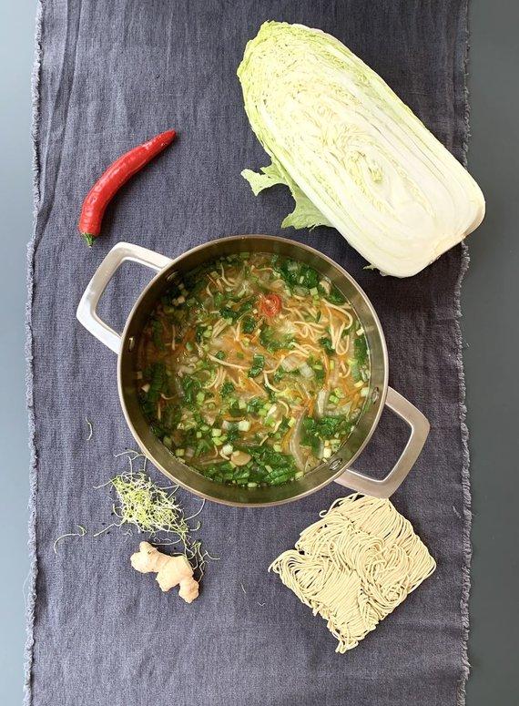 Autorės nuotr. /Greitai paruošiama kiniška antigripino sriuba