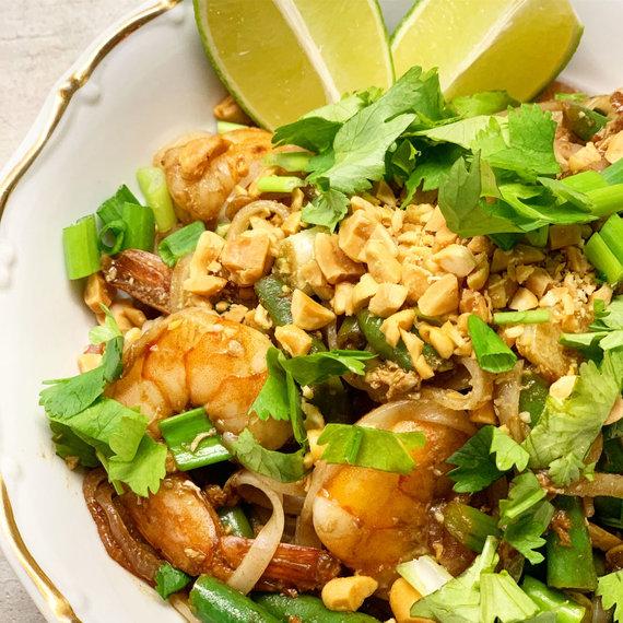 """Tinklaraščio archyvo nuotr./Tailandietiškas """"Pad Thai"""" su krevetėmis"""