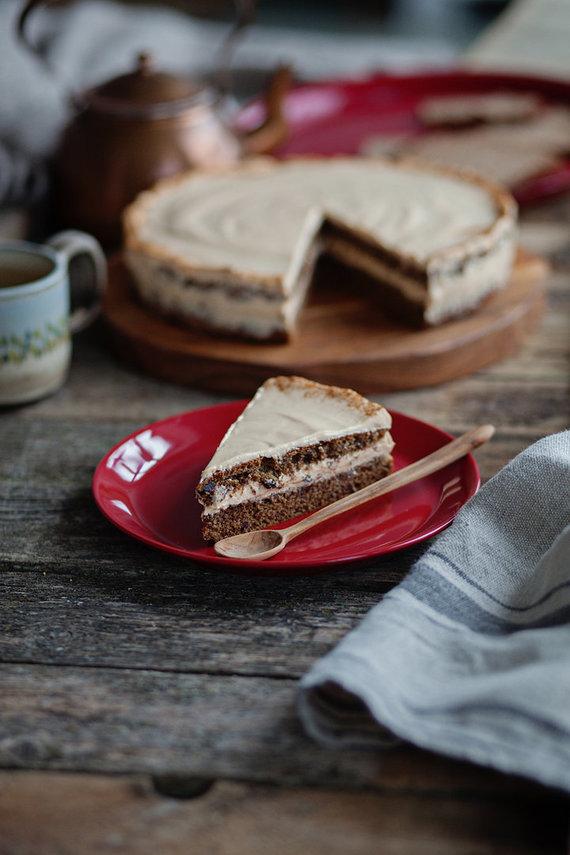 """""""Fotopastelė"""" nuotr. /Tortas su ruginės duonos trupiniais"""