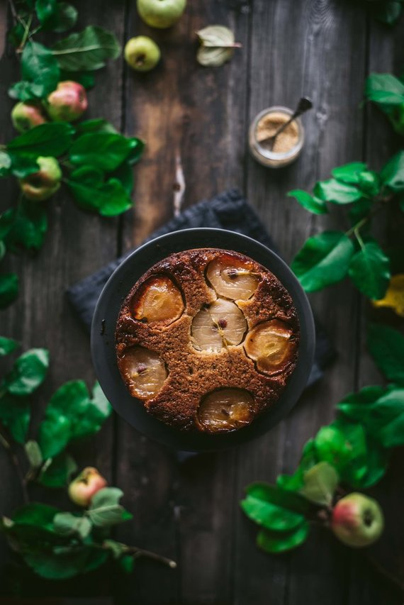Tinklaraštininkės nuotr. /Apverstas obuolių pyragas