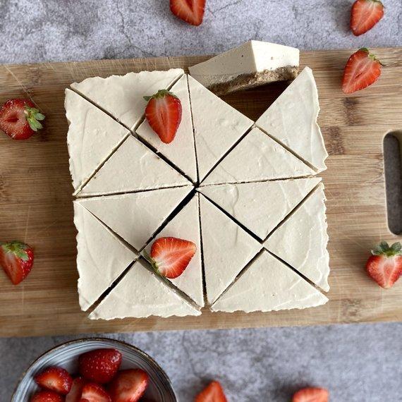 Autorės nuotr./Veganiškas kreminis riešutų desertas