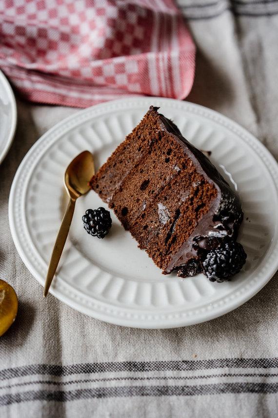 """Organizatorių nuotr. /Šokoladinio """"Zacherio"""" pyrago gabalėlis"""
