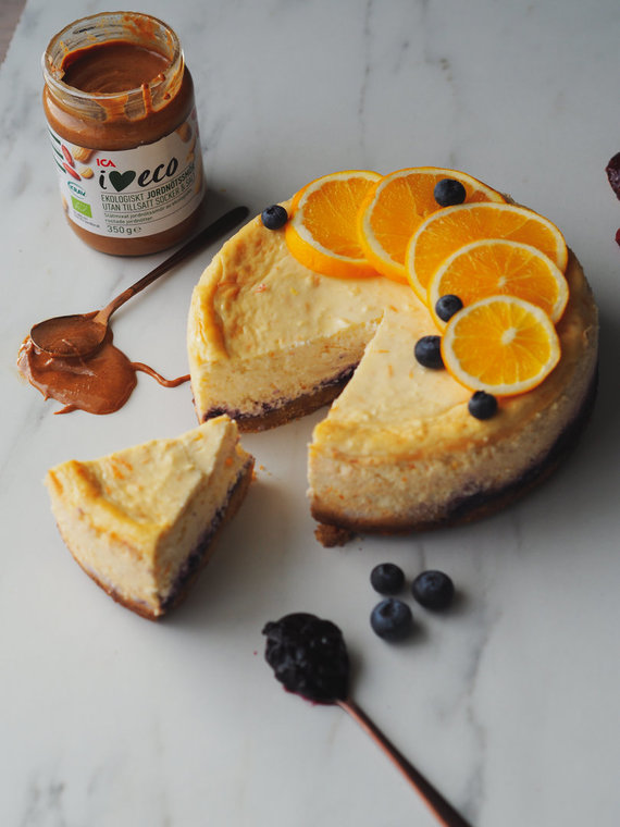 Asmeninio albumo nuotr. /Sūrio pyragas, paskanintas džemu ir riešutų sviestu