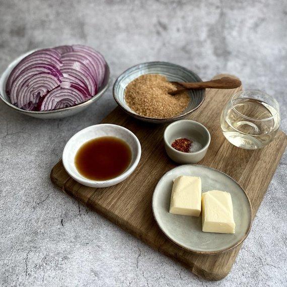 Autorės nuotr. /Svogūnų džemo ingredientai