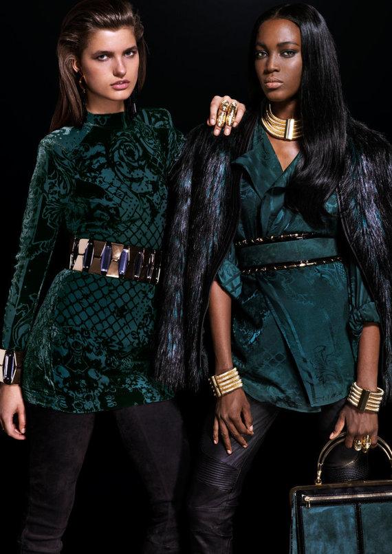 """H&M nuotr./""""Balmain X H&M"""" kolekcijos modeliai"""
