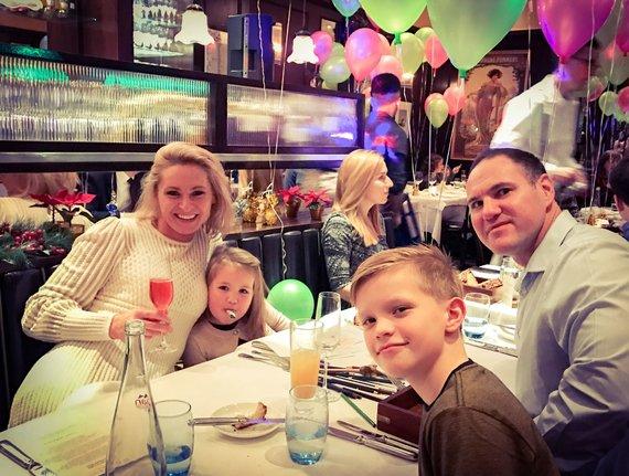 Asmeninio albumo nuotr./Ugnė Bubnaitytė su šeima