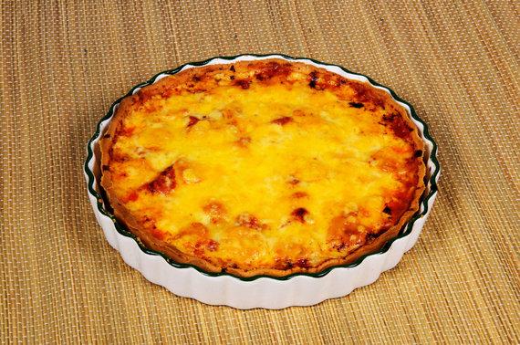 Vida Press nuotr./Pyragas su pomidorais ir sūriu