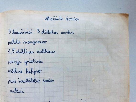 Asmeninio albumo nuotr./Pyrago receptas