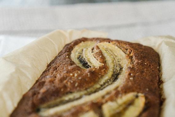 Julijos Steponavičiūtės nuotr. /Bananų duona su grikių miltais