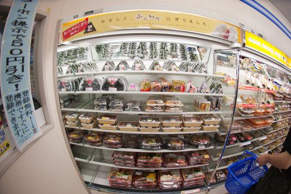 Vida Press nuotr./Bento dėžutės parduotuvės šaldytuve