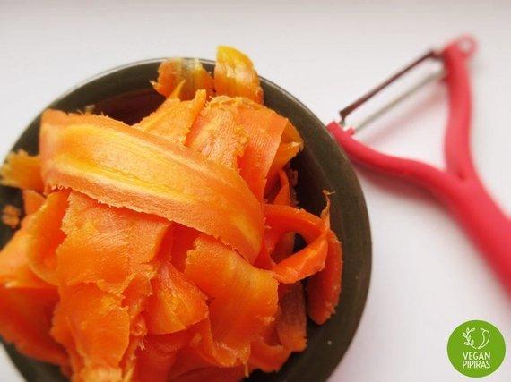"""Vegan Pipiras"" nuotr./Supjaustytos morkos"