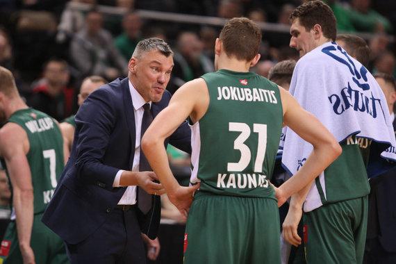Eriko Ovčarenko / 15min nuotr./Šarūnas Jasikevičius ir Rokas Jokubaitis