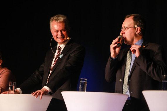 Eriko Ovčarenko / 15min nuotr./Gitanas Nausėda ir Naglis Puteikis