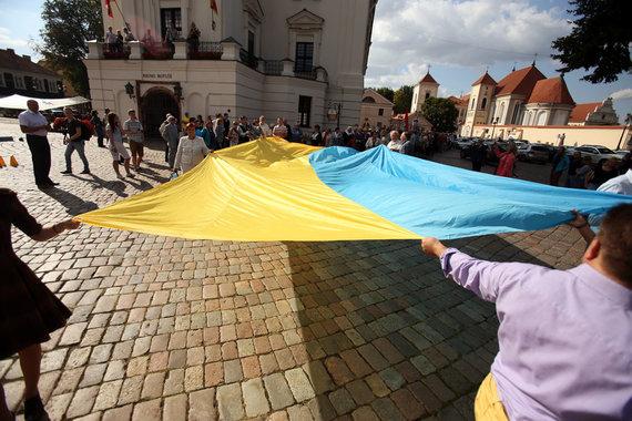 Eriko Ovčarenko / 15min nuotr./Ukrainos vėliava