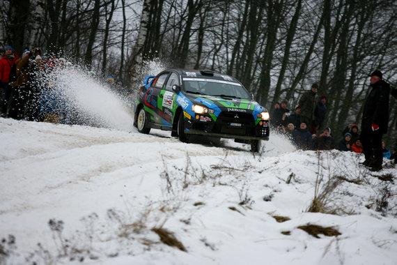 """Mariaus Čiutelės nuotr./""""Halls Winter Rally"""" šeštadienis"""