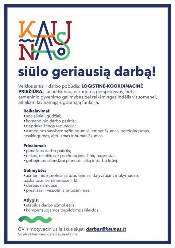 """Kaunas.lt nuotr./""""Geriausio darbo"""" pasiūlymas"""